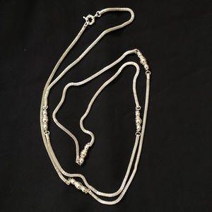 Banana Republic Long Silver Necklace